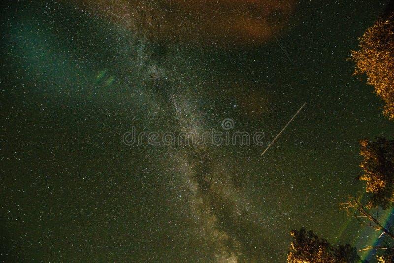 Γαλακτώδης τρόπος ουρανός έναστρος στοκ φωτογραφία με δικαίωμα ελεύθερης χρήσης