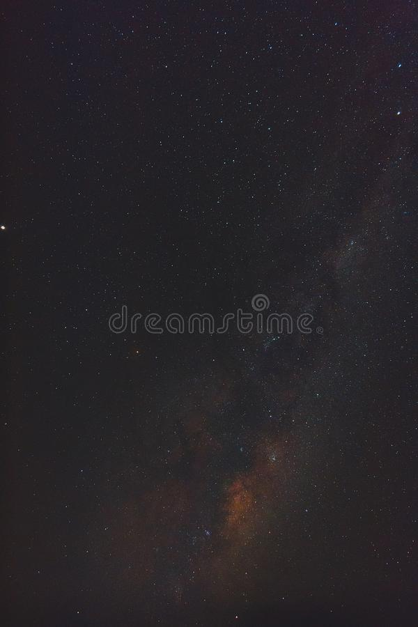 Γαλακτώδης τρόπος στο χρόνο μεσάνυχτων της Μελβούρνης στοκ εικόνα