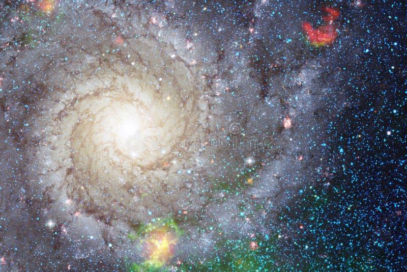 Γαλαξίας κάπου στο βαθύ διάστημα Ομορφιά του κόσμου στοκ φωτογραφία