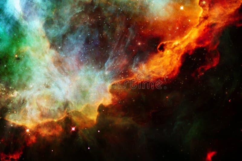 Γαλαξίας κάπου στο μακρινό διάστημα r διανυσματική απεικόνιση