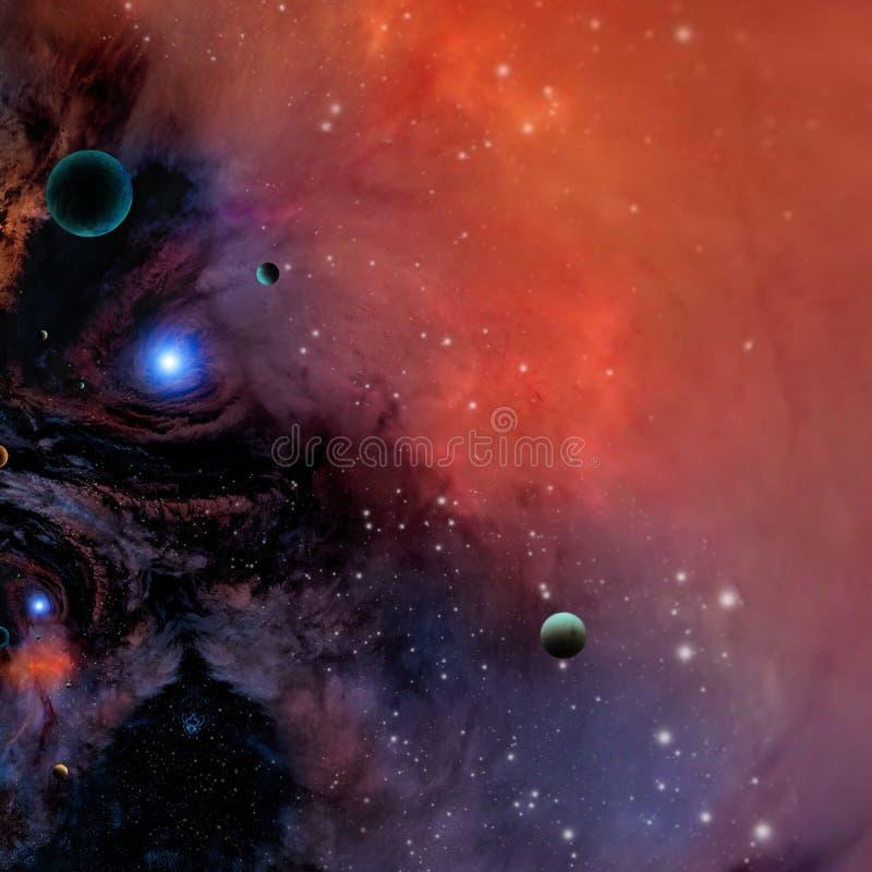 Γαλαξίας στο διάστημα στοκ εικόνα