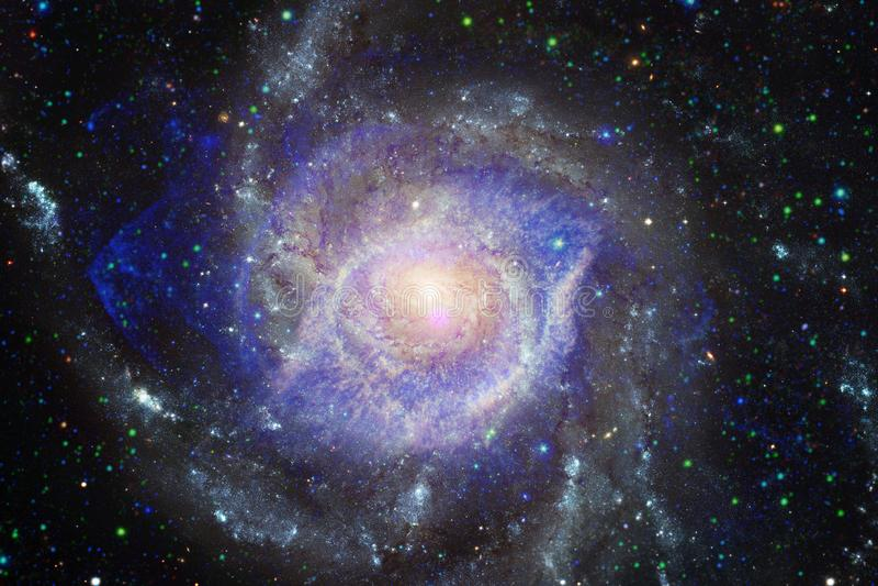 Γαλαξίας στο μακρινό διάστημα, ομορφιά του κόσμου στοκ φωτογραφίες