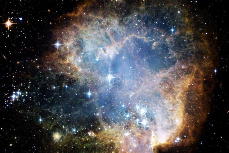 Γαλαξίας, starfield, νεφελώματα, συστάδα των αστεριών στο βαθύ διάστημα Τέχνη επιστημονικής φαντασίας στοκ εικόνες