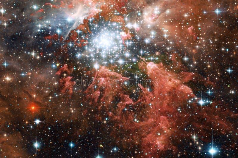 Γαλαξίας, starfield, νεφελώματα, συστάδα των αστεριών στο βαθύ διάστημα Τέχνη επιστημονικής φαντασίας διανυσματική απεικόνιση