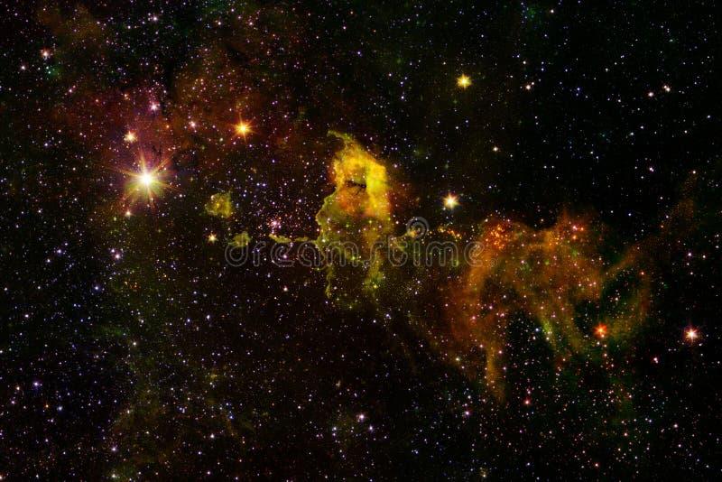 Γαλαξίας, starfield, νεφελώματα, συστάδα των αστεριών στο βαθύ διάστημα Τέχνη επιστημονικής φαντασίας στοκ φωτογραφίες με δικαίωμα ελεύθερης χρήσης