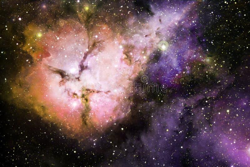 Γαλαξίας, starfield, νεφελώματα, συστάδα των αστεριών στο βαθύ διάστημα Τέχνη επιστημονικής φαντασίας στοκ φωτογραφίες