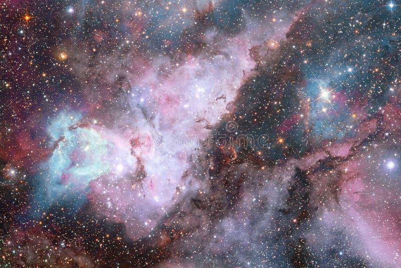 Γαλαξίας, starfield, νεφελώματα, συστάδα των αστεριών στο βαθύ διάστημα Τέχνη επιστημονικής φαντασίας απεικόνιση αποθεμάτων