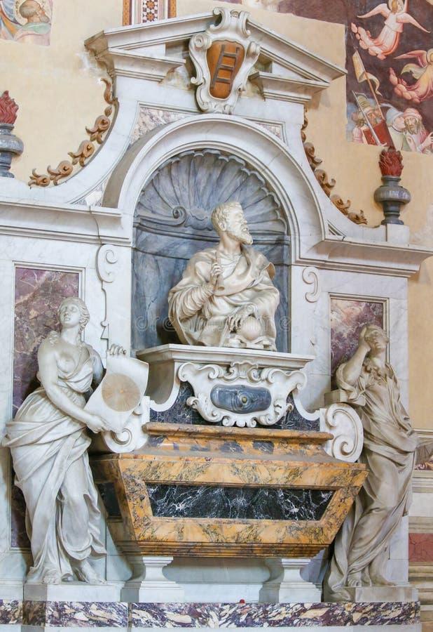 Γαλιλαίος Galilei σε Santa Croce, Φλωρεντία στοκ φωτογραφίες