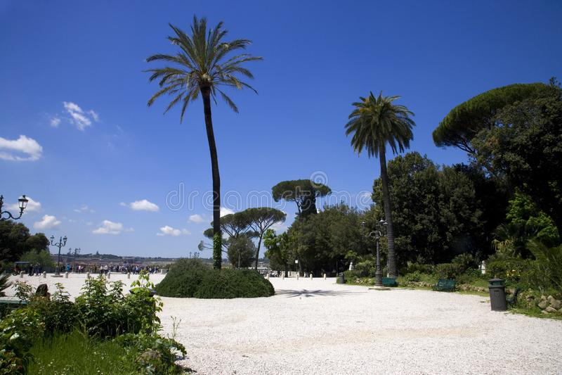 Γαλλία Ιταλία Pincho Hill τοπίο Πάρκο Ρώμη Βίλα Μποργκές στοκ φωτογραφία με δικαίωμα ελεύθερης χρήσης