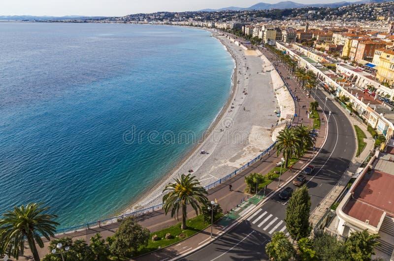 Γαλλία Προβηγκία Υπόστεγο Azur συμπαθητικός περίπατος anglai Α στοκ εικόνα με δικαίωμα ελεύθερης χρήσης