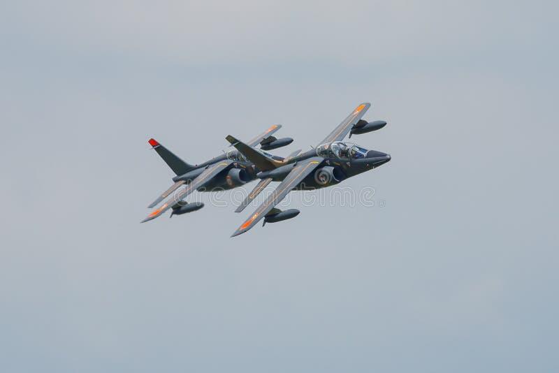 Γαλλικά άλφα αεριωθούμενα αεροπλάνα στοκ εικόνα