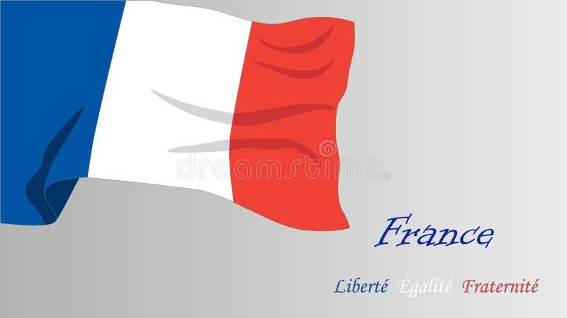 Γαλλική σημαία ελεύθερη απεικόνιση δικαιώματος