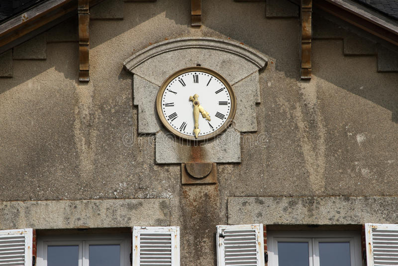 γαλλικός ιστορικός ρολογιών στοκ εικόνες