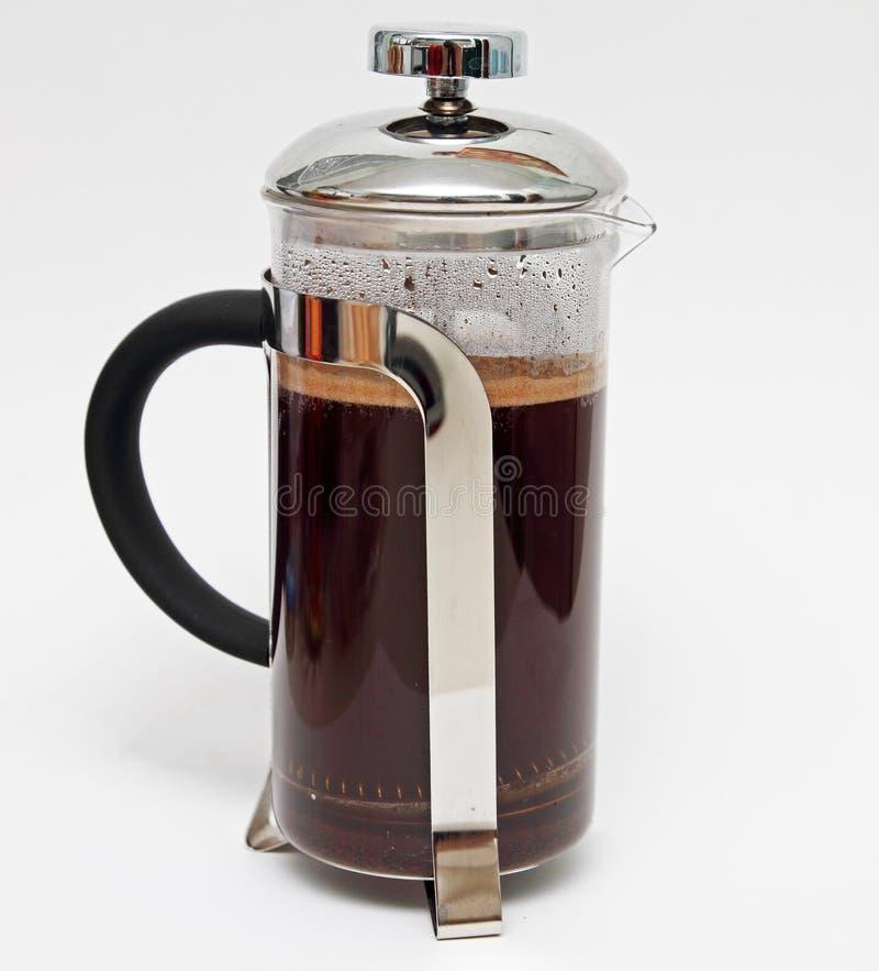 Γαλλικός καφές Τύπου στοκ φωτογραφία