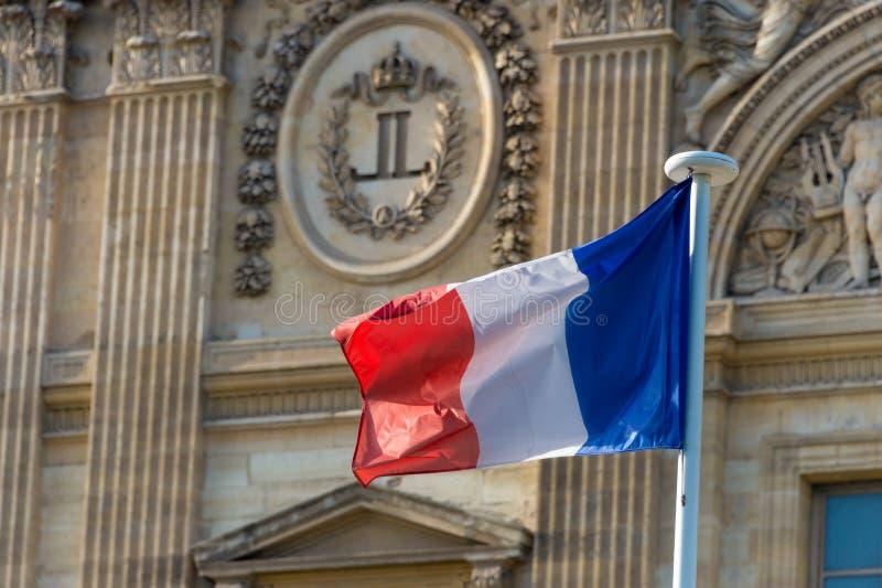 Γαλλικός κυματισμός σημαιών στοκ φωτογραφίες με δικαίωμα ελεύθερης χρήσης