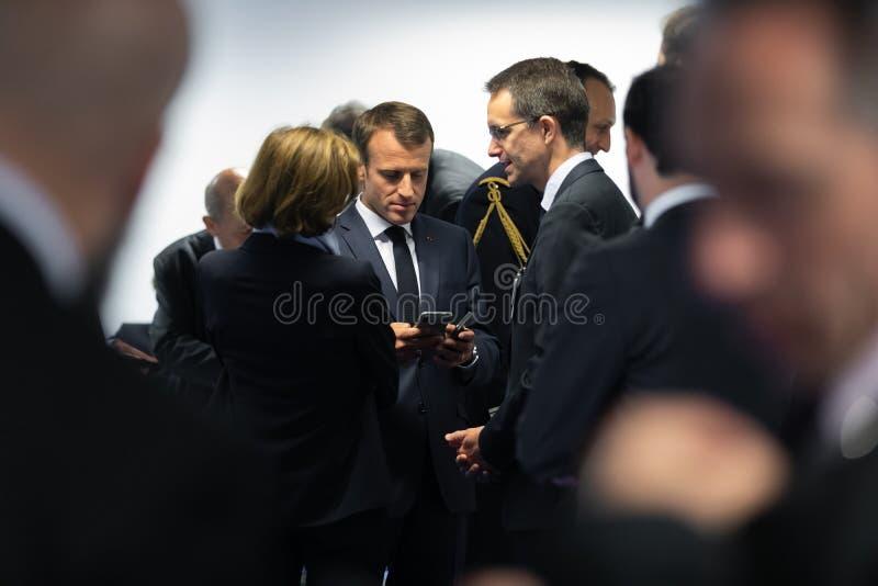 Γαλλικός Πρόεδρος Emmanuel Macron στοκ φωτογραφίες