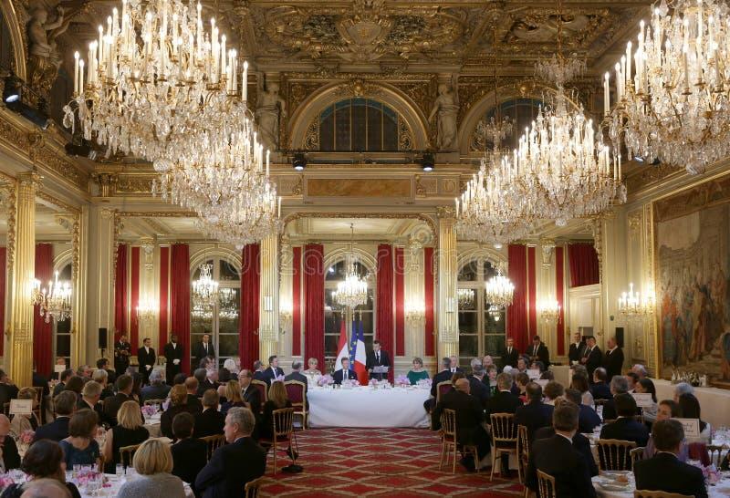 Γαλλικός Πρόεδρος Macron και πρώτη κυρία Brigitte στοκ φωτογραφίες
