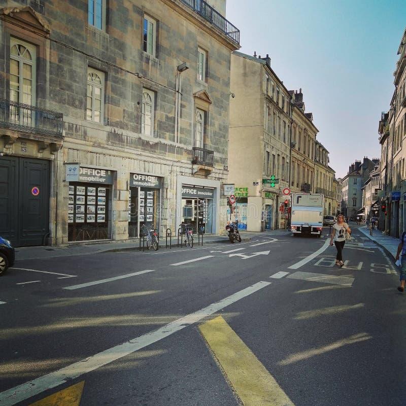 Γαλλικός στο κέντρο της πόλης στοκ φωτογραφία