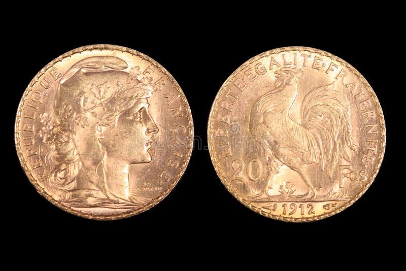 γαλλικός χρυσός νομισμάτων στοκ εικόνα με δικαίωμα ελεύθερης χρήσης