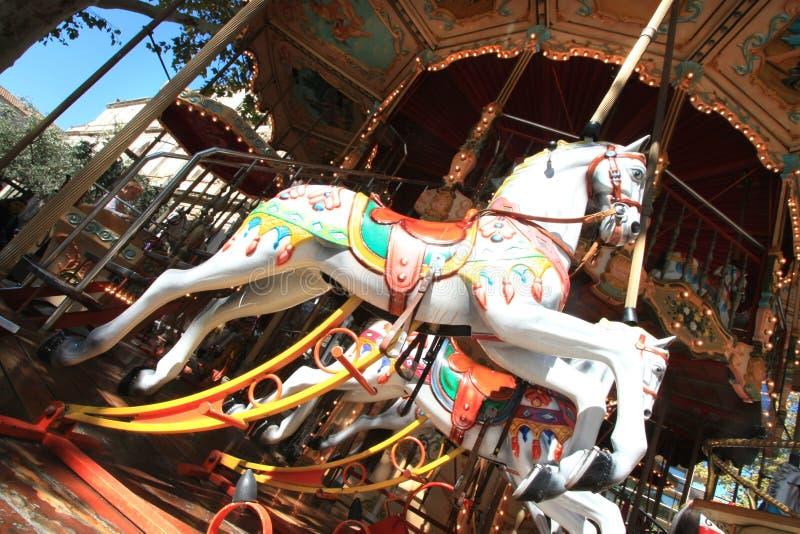 γαλλικό άλογο ξύλινο στοκ εικόνα με δικαίωμα ελεύθερης χρήσης