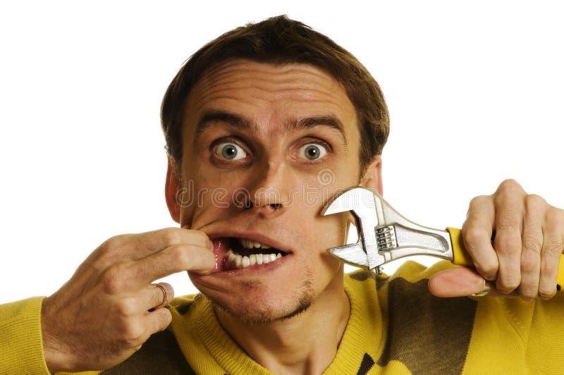 γαλλικό κλειδί ατόμων στοκ εικόνες με δικαίωμα ελεύθερης χρήσης