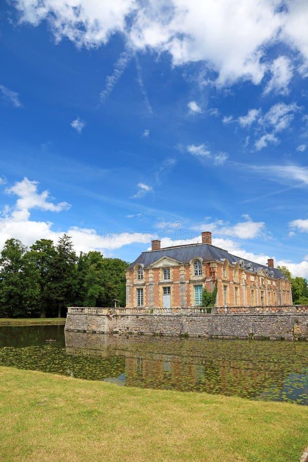 γαλλικό μέγαρο παλαιό στοκ εικόνες