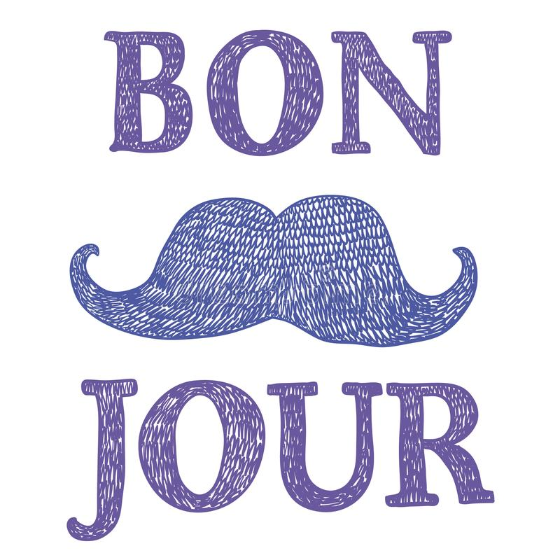 Γαλλικό σημάδι καλημέρας ` ` διανυσματική απεικόνιση