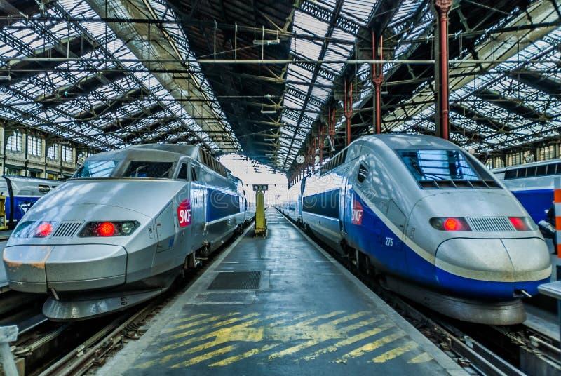Γαλλικό τραίνο υψηλής ταχύτητας του TGV στοκ εικόνες