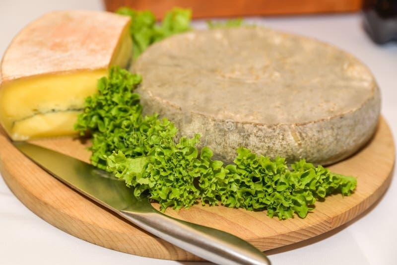 Γαλλικό τυρί με τη σαλάτα στοκ εικόνα