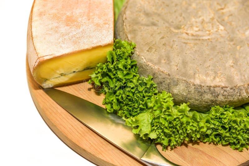 Γαλλικό τυρί με τη σαλάτα στοκ εικόνες με δικαίωμα ελεύθερης χρήσης