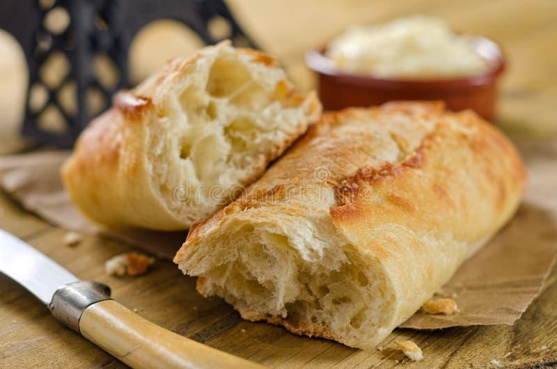 Γαλλικό ψωμί Baguette στοκ φωτογραφίες