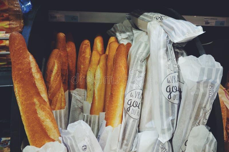 Γαλλικό baguette ψωμιού στοκ φωτογραφία με δικαίωμα ελεύθερης χρήσης