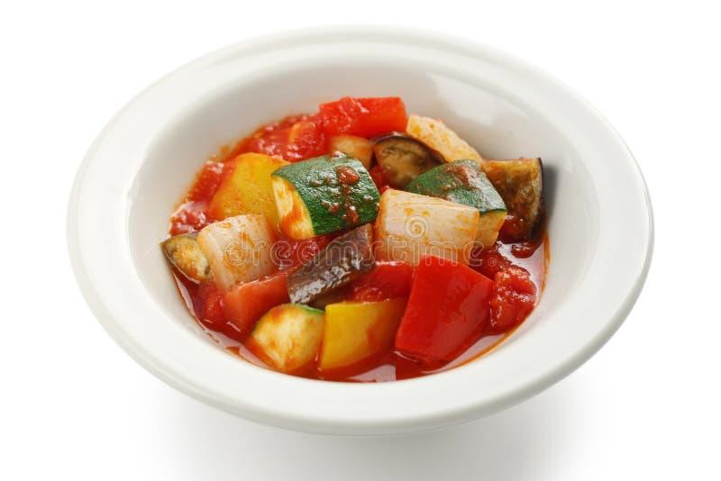 γαλλικό stew ratatouille λαχανικό στοκ εικόνα