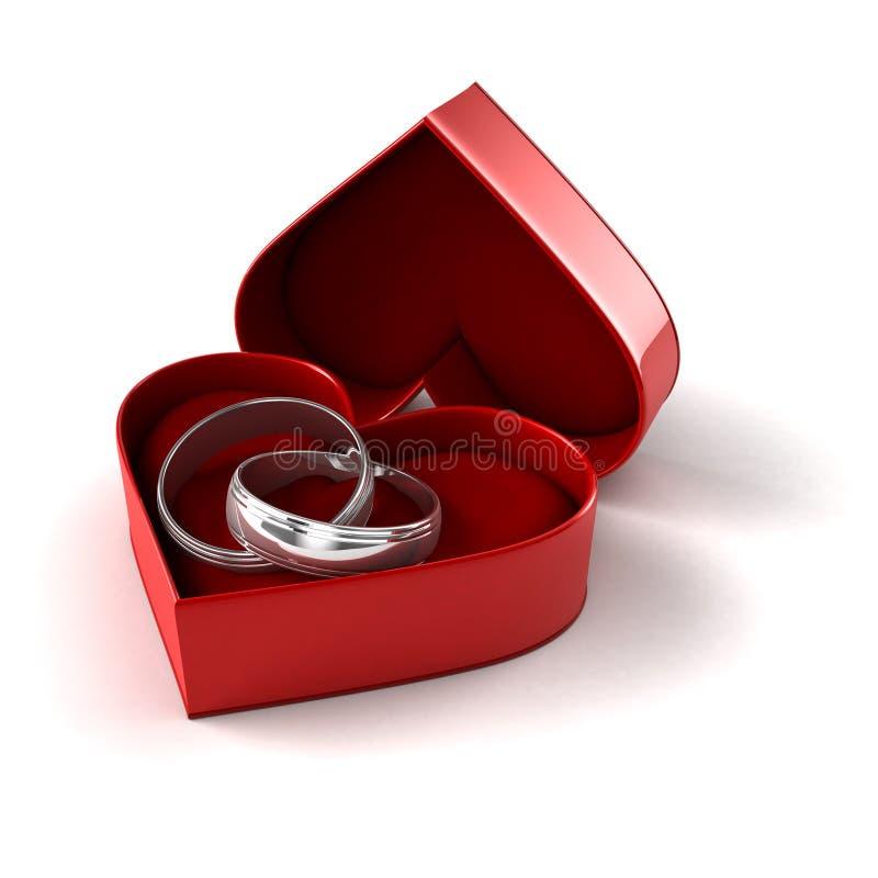 Γαμήλια δαχτυλίδια σε περίπτωση που διανυσματική απεικόνιση