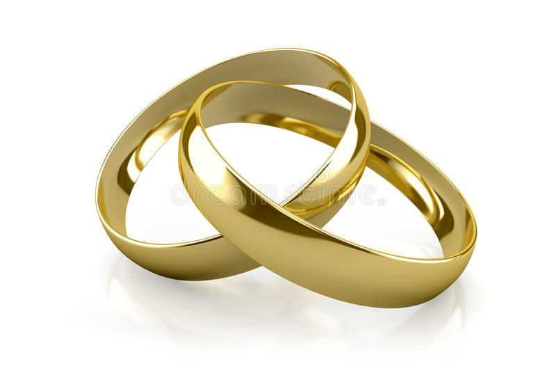 Γαμήλια δαχτυλίδια ελεύθερη απεικόνιση δικαιώματος