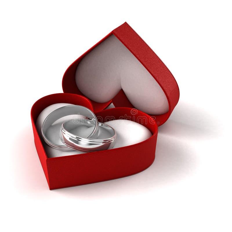 Γαμήλια δαχτυλίδια απεικόνιση αποθεμάτων