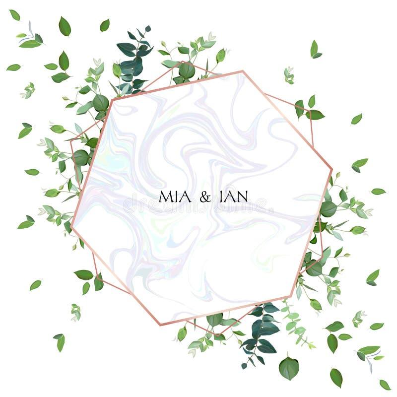 Γαμήλια πρόσκληση πρασινάδων ιαπωνικό watercolor ύφους απεικόνισης μπαμπού απεικόνιση αποθεμάτων