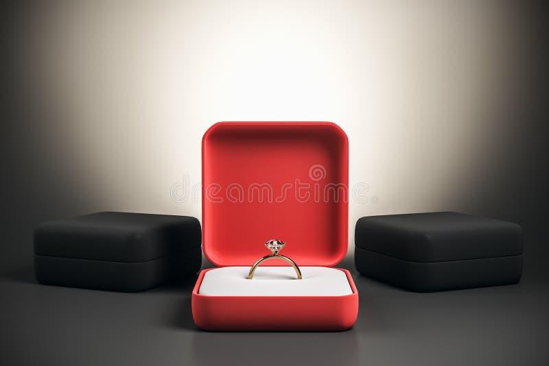 Γαμήλιες πρόταση και ευτυχία απεικόνιση αποθεμάτων