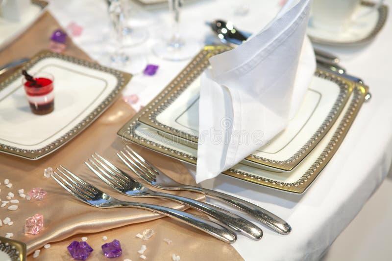 Γαμήλιο γεύμα στοκ εικόνες με δικαίωμα ελεύθερης χρήσης