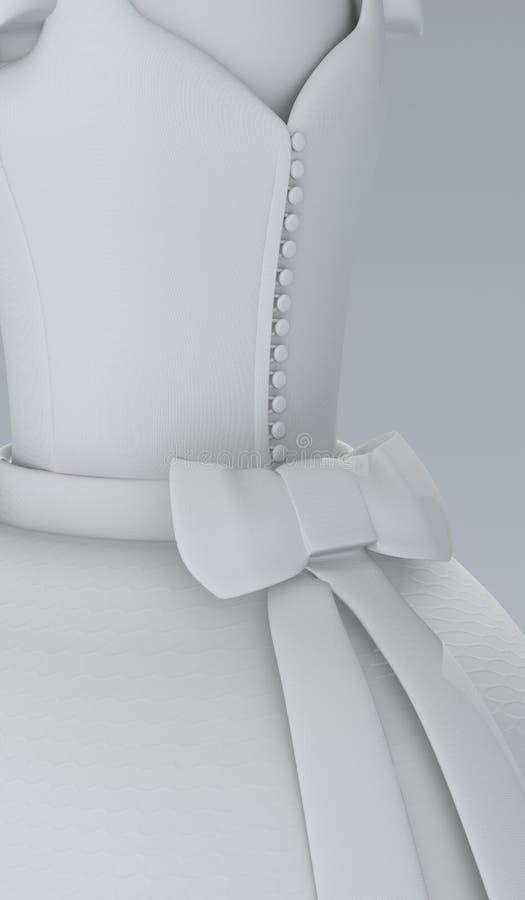 γαμήλιο λευκό φορεμάτων διανυσματική απεικόνιση