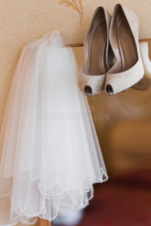 Γαμήλιο νυφικό πέπλο στοκ φωτογραφία με δικαίωμα ελεύθερης χρήσης