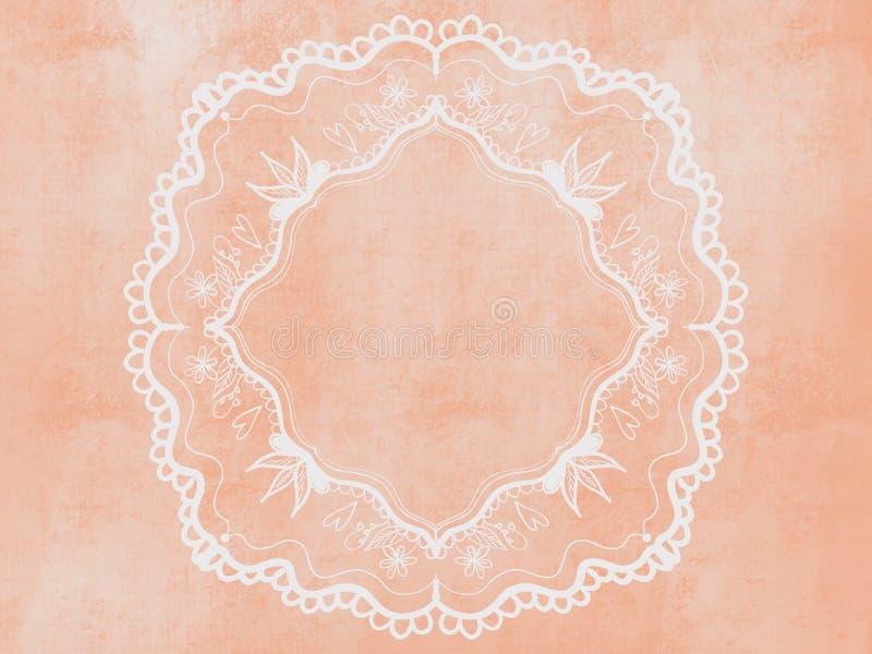 γαμήλιο πλαίσιο με τα λουλούδια για τις προσκλήσεις και τις κάρτες απεικόνιση αποθεμάτων