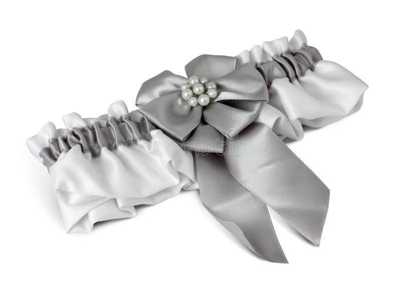 Γαμήλιο garter στο λευκό στοκ εικόνες με δικαίωμα ελεύθερης χρήσης