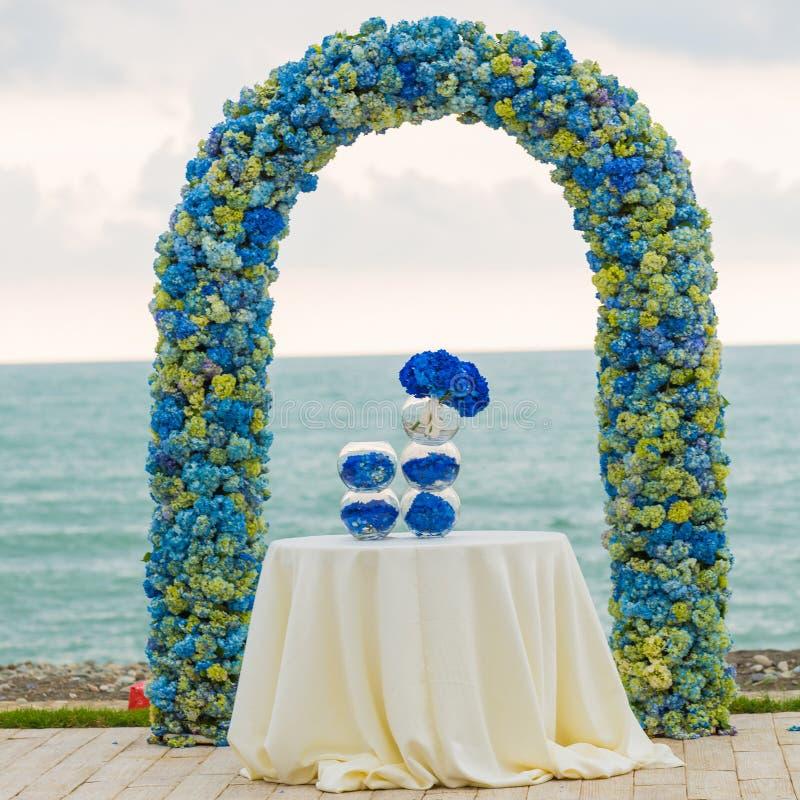 Γαμήλια αψίδα παραλιών στοκ φωτογραφία