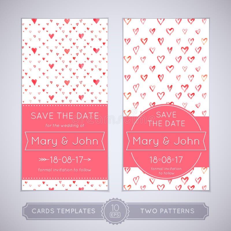 Γαμήλια κάρτα Watercolor απεικόνιση αποθεμάτων
