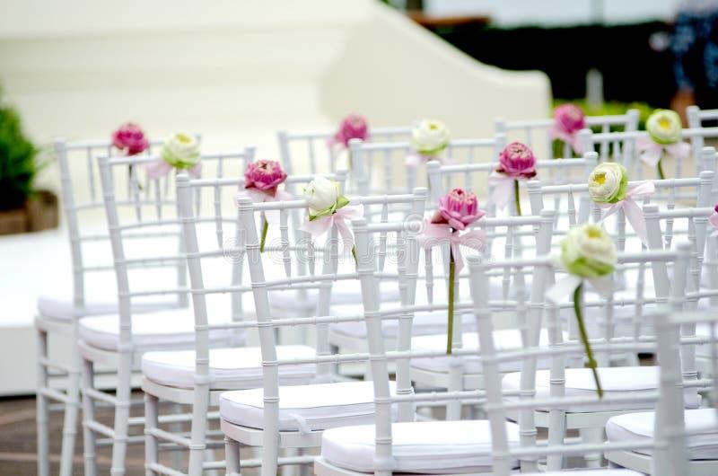 Γαμήλια καρέκλα στοκ φωτογραφίες