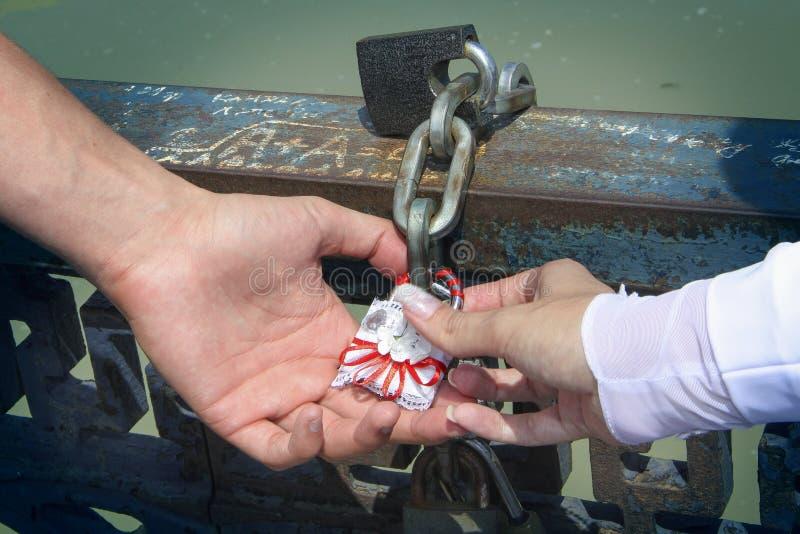 Γαμήλια κλειδαριά στοκ εικόνα με δικαίωμα ελεύθερης χρήσης