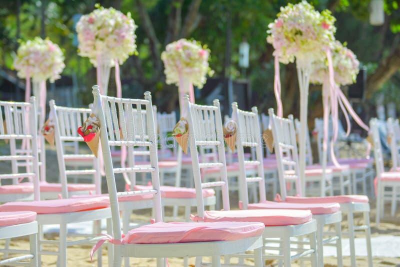 Γαμήλια οργάνωση Bautiful στην παραλία στοκ φωτογραφία με δικαίωμα ελεύθερης χρήσης