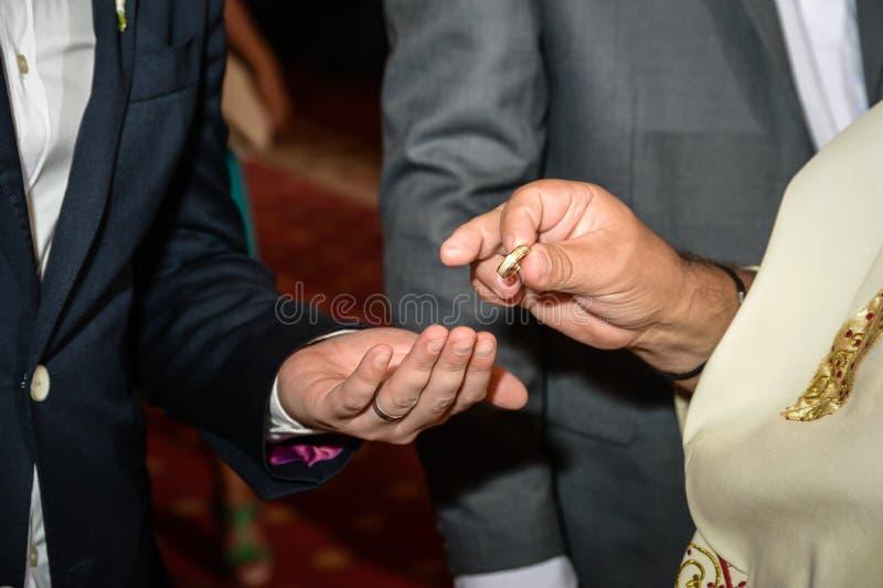 Γαμήλια ορθόδοξη τελετή στοκ εικόνα