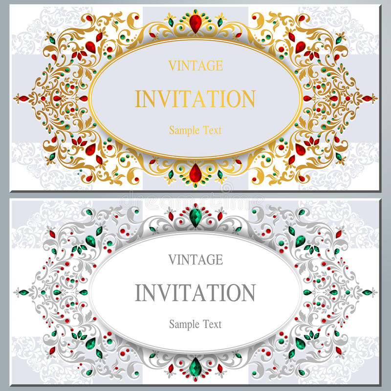 Γαμήλια πρόσκληση ή κάρτα με το αφηρημένο υπόβαθρο διανυσματική απεικόνιση